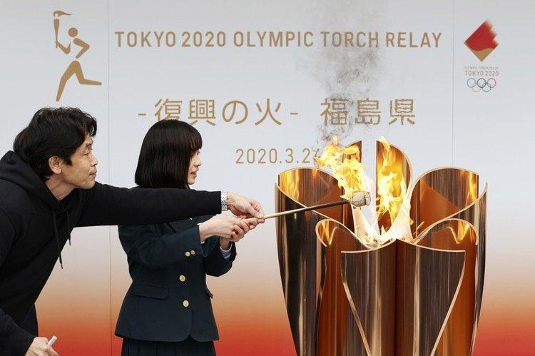 La llama olímpica llegó a Japón el pasado viernes (REUTERS)