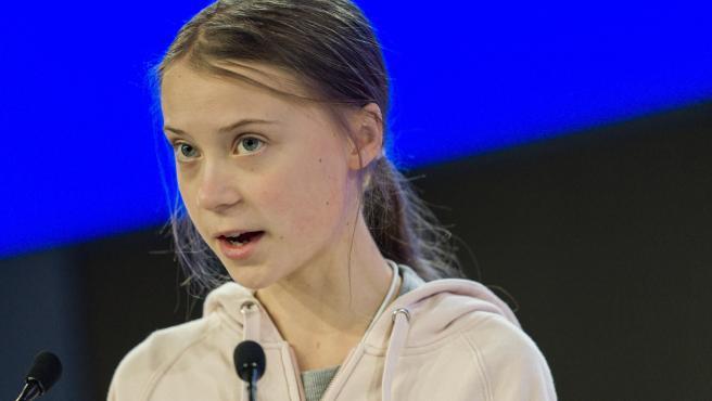Greta Thunberg en el foro de Davos.