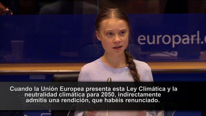 Greta Thunberg carga contra la Ley Climática de la Unión Europea