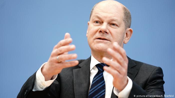 Deutschland Bundesfinanzminister Olaf Scholz (picture-alliance/dpa/K. Nietfeld)