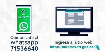 ATT habilita web y línea WhatsApp para denunciar cortes de servicio en telecomunicaciones