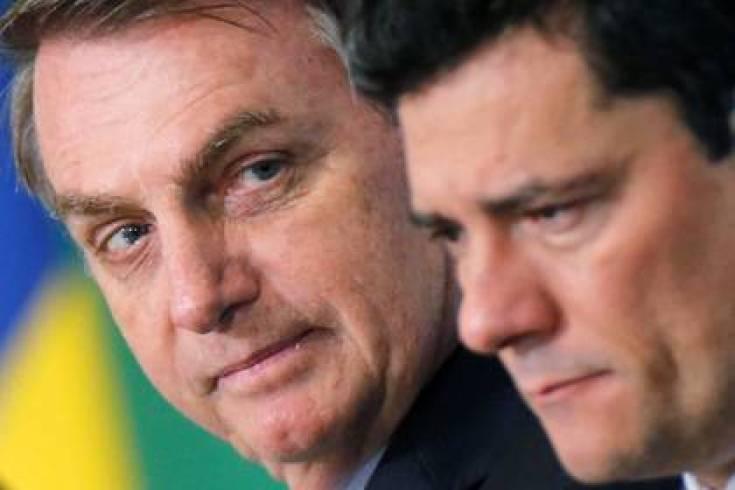 Jair Bolsonaro y Sergio Moro REUTERS/Adriano Machado/File Photo