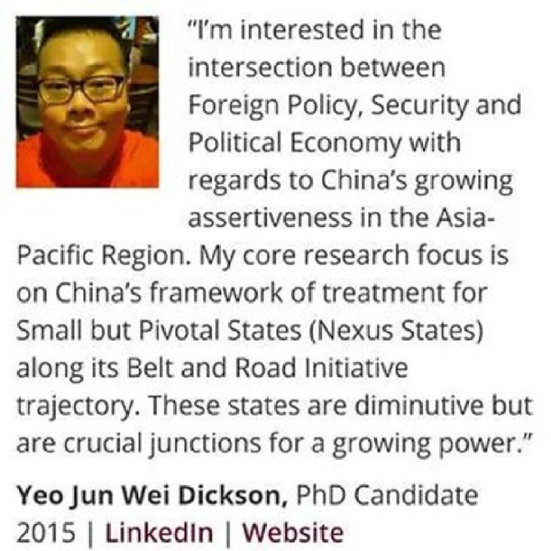 Captura de pantalla del perfil de Dickson Yeo en LinkedIn