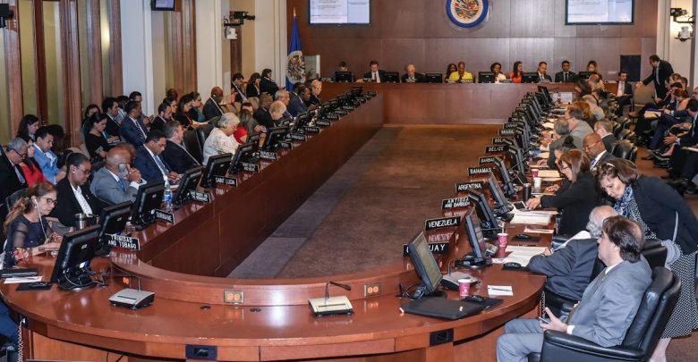 Una sesión anterior de la OEA. América Nuestra