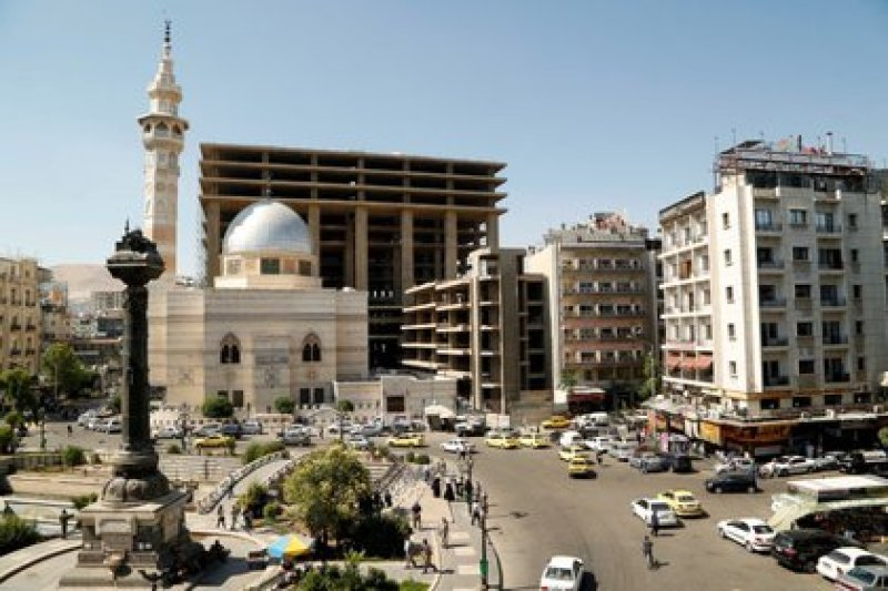 La Plaza Marjeh en Damasco (REUTERS/Yamam Al Shaar)
