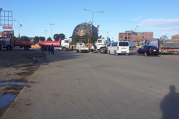 Paro de transporte en Oruro Foto: Mi Oruro Online