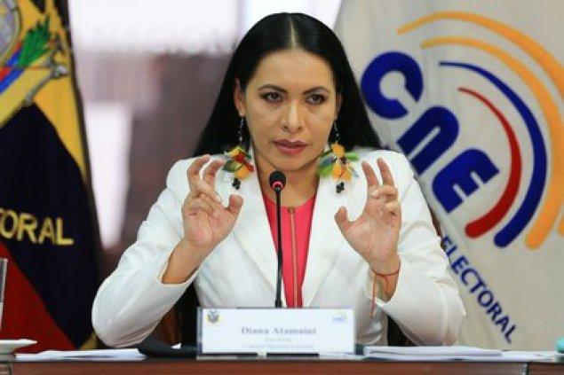 La presidenta del Consejo Nacional Electoral (CNE) de Ecuador, Diana Atamaint (EFE)