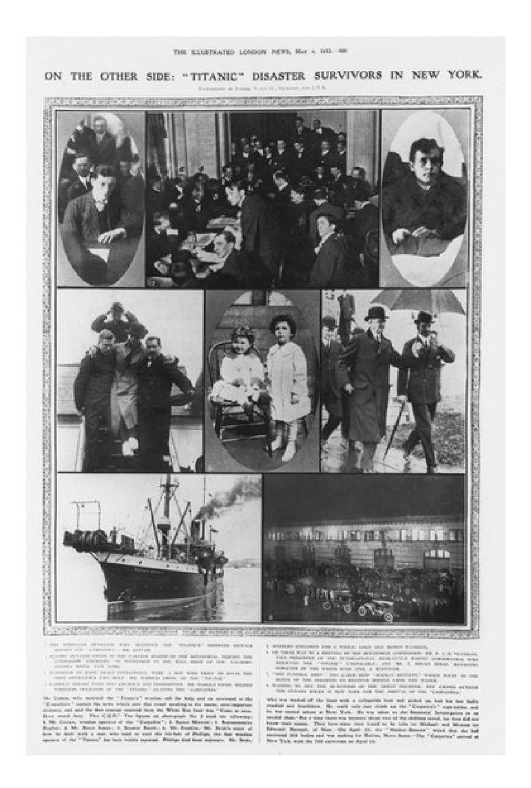 El arribo de los sobrevivientes del hundimiento del Titanic a Nueva York. Entre ellos, los huérfanos Narvatil. Credit: Photo by Granger/Shutterstock