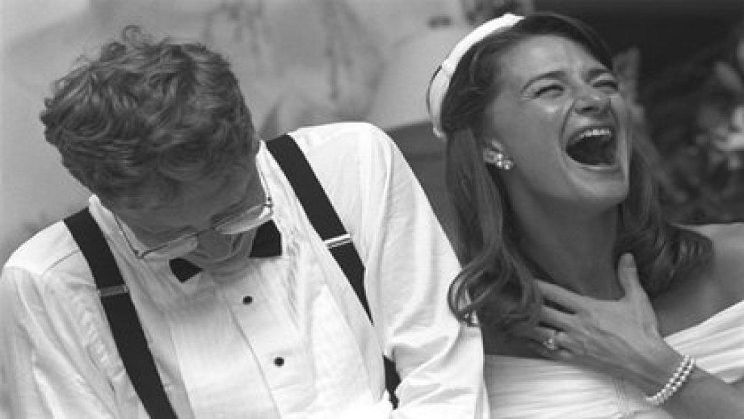 Melinda y Bill Gates durante su boda (Foto: Instagram@melindafrenchgates)