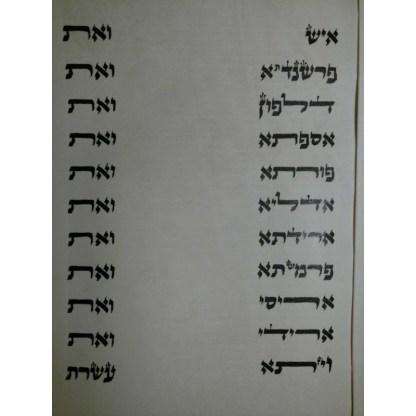 Meguilat Esther - Sefarade