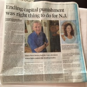 Anniversary story in the Star-Ledger