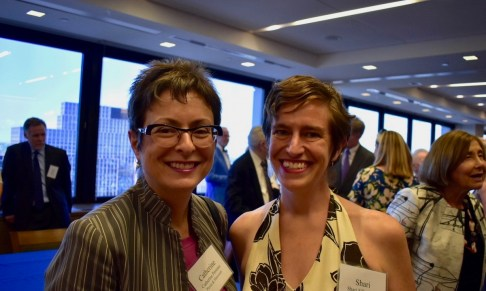 Former Gibbons clerk Catherine Perusse with EJUSA Executive Director Shari Silberstein