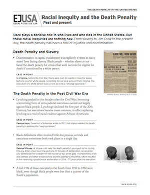 EJUSA Fact Sheet: Racial Iniquity