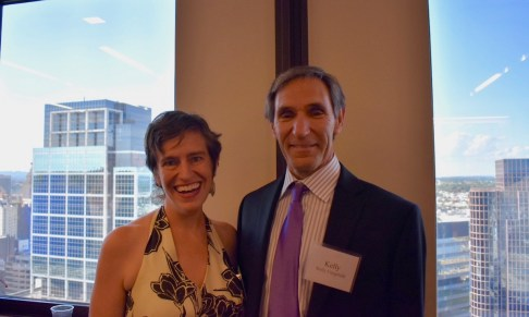 EJUSA Executive Director Shari Silberstein with Kelly Fitzgerald