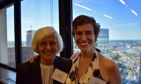 EJUSA Board member Ursula Bentele (left) and Executive Director Shari Silberstein