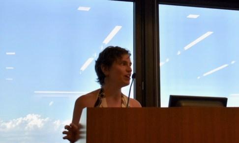 EJUSA Executive Director Shari Silberstein addresses the crowd