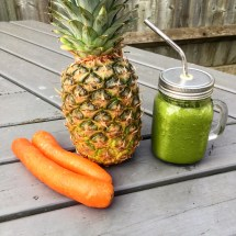 Carrot Pineapple Green Smoothie