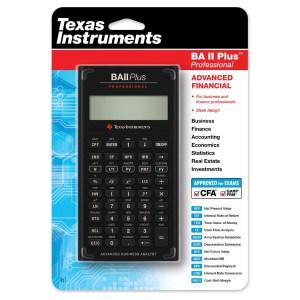 TEXAS INSTRUMENT BA II PLUS PROFESSIONAL CALCULATOR