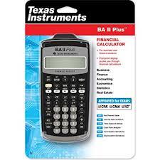 TEXAS INSTRUMENT BA II PLUS FINANCIAL CALCULATOR