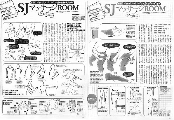 Ski Journal 「SJマッサージROOM」挿し絵  '01 10月号~2月号