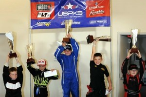 Griffin Kunz won the tie-breaker to become the first USPKS Yamaha Rookie champion (Photo: DavidLeePhoto.com)