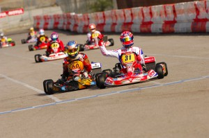 Former Rotax world champ Ben Cooper edged out former world shifterkart champion Bas Lammers in DD2 (Photo: On Track Promotions - otp.ca)