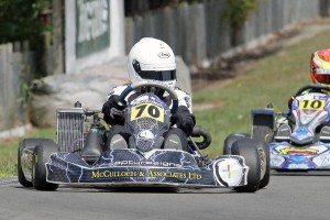 New face on the top step of the podium in the Arai Rotax Junior class was Michael McCulloch from Waikanae (Photo: Fast Company/Graham Hughes)