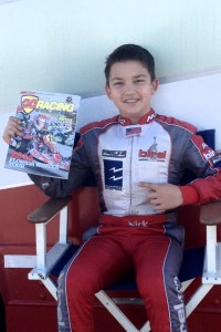 Nicholas Brueckner featured on the cover of the February issue of Go Racing Magazine