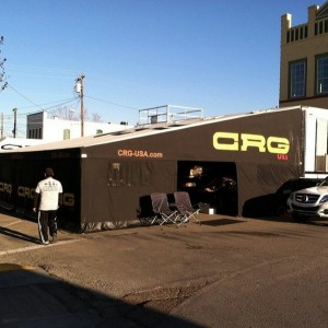CRG-USA and its dealers filled up a city block in Lockhart, Texas at the Lone Star Grand Prix