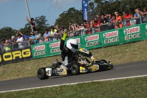 John Iafolla crossing the line to win Junior National Heavy (Pic: Coopers Photography)