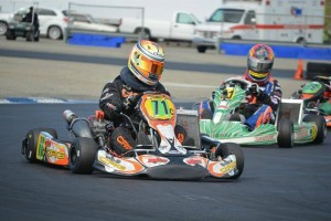 Darren Elliott stalked Willy Musgrave all day, taking the lead over late in the S4 main event (Photo: LAKC.org)