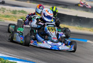 Scott Falcone fought his way into the pole position for Saturday after winning the third heat race in Masters Max (Photo: Ken Johnson - Studio52.us)