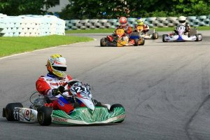 Castaneda piloting the Tony Kart/Vortex package