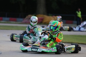 Alex Bertagnoli locked up both Junior championships with a win in each category on Saturday (Photo: Kathy Churchill - Route66kartracing.com)