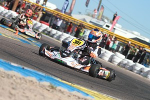 South African driver Jordan Sherrat stole the victory in Senior Max (Photo: EKN)