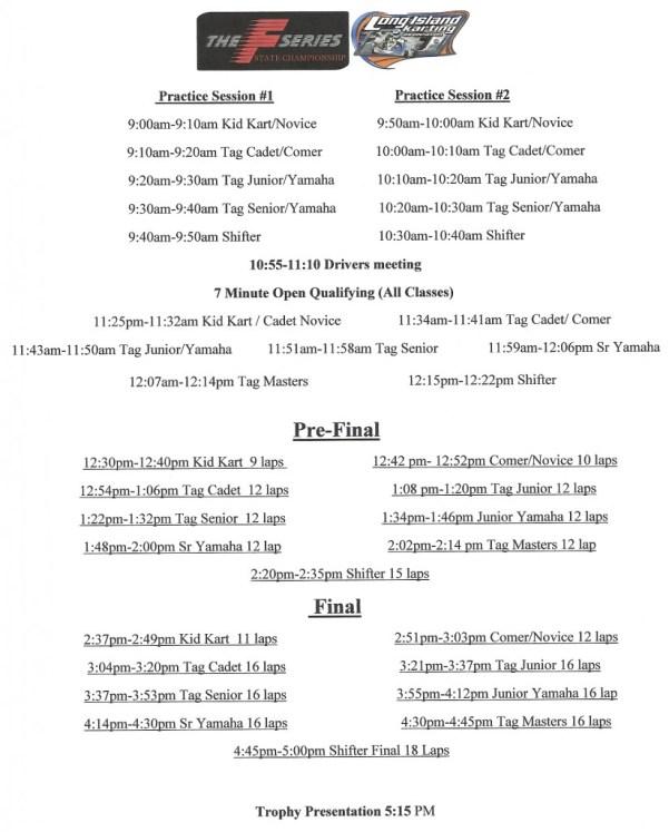 F-Series Schedule
