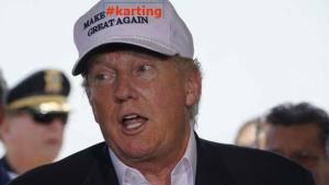 Behind the Laptop-Donald Trump