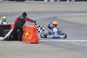 Billy Musgrave doubled up in the win column, scoring the S1 Pro Stock Moto win and the TaG Senior victory (Photo: Kart Racer Media)