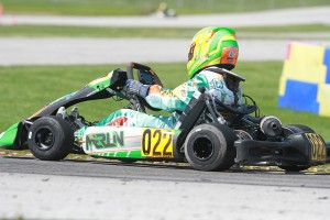 IAME Junior drivers are chasing Sam Mayer in the point standings (Photo: EKN)