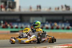 A nice picture of me entering turn 1 at the Kartodromo Internacional do Algarve