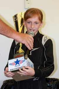Paige Crawford became the first female champion in USPKS history, earning the Yamaha Rookie title (Photo: EKN)