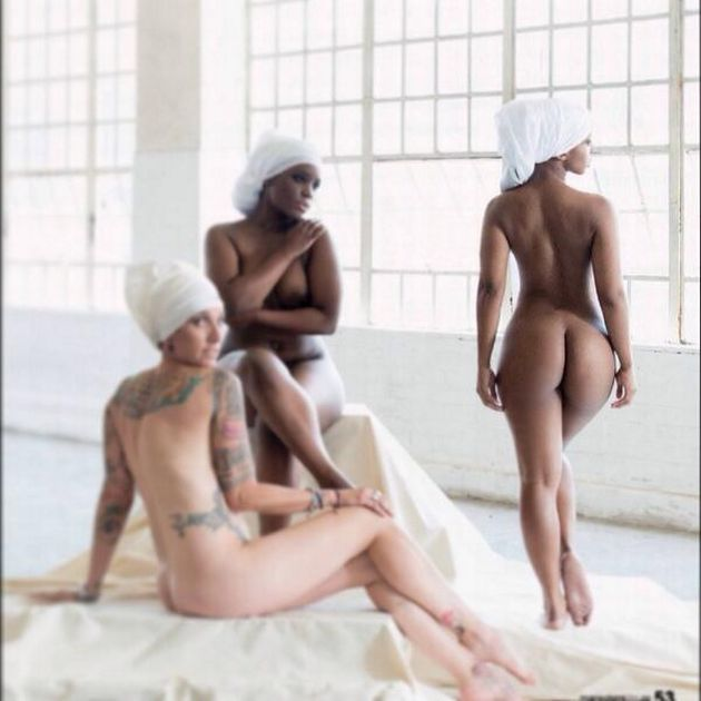 Boity Thulo Strips naked for Marie Claire's popular Naked issue