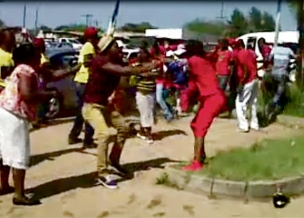 STONES FLY IN BRAWL BETWEEN ANC AND EFF MEMBERS