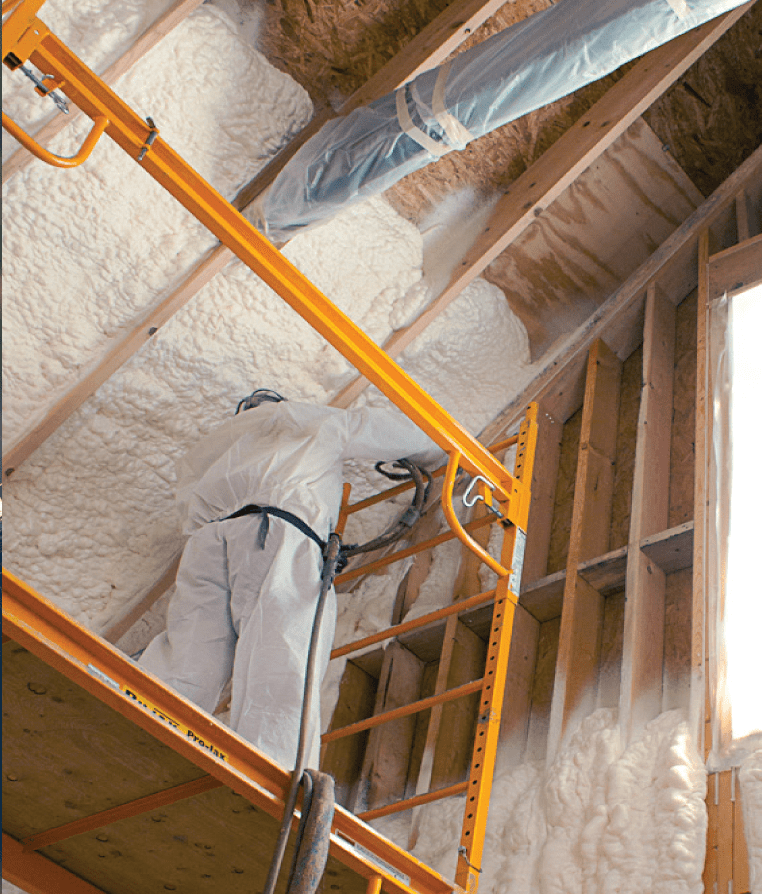 Open and Closed Cell Spray Foam