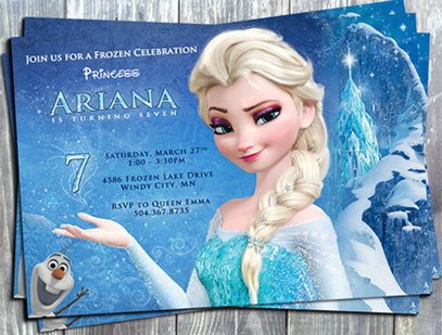 disney frozen queen elsa printable birthday invitation
