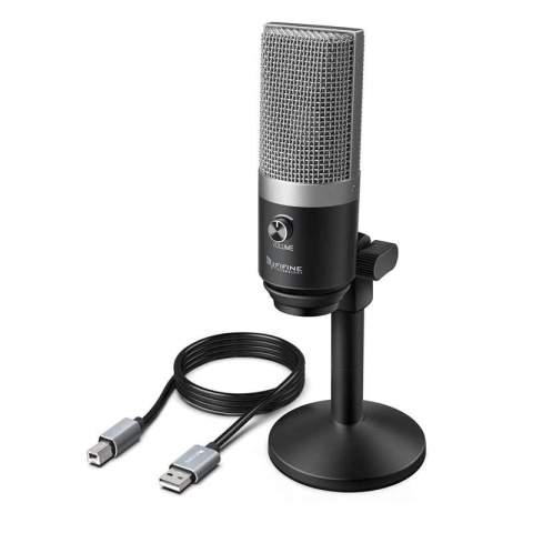 Fifine K670B Microphone with Stand – Black