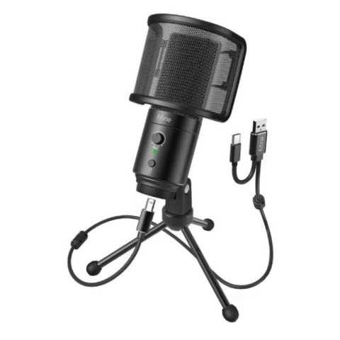 Fifine K683A Microphone and Tripod – Black