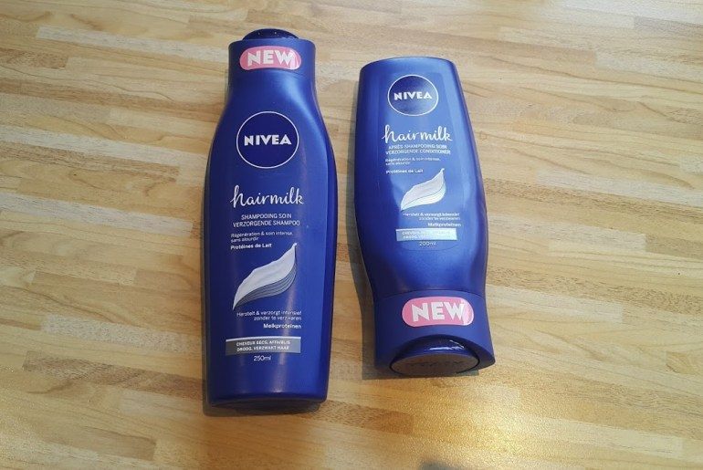 Nivea Hairmilk verzorgende shampoo en conditioner