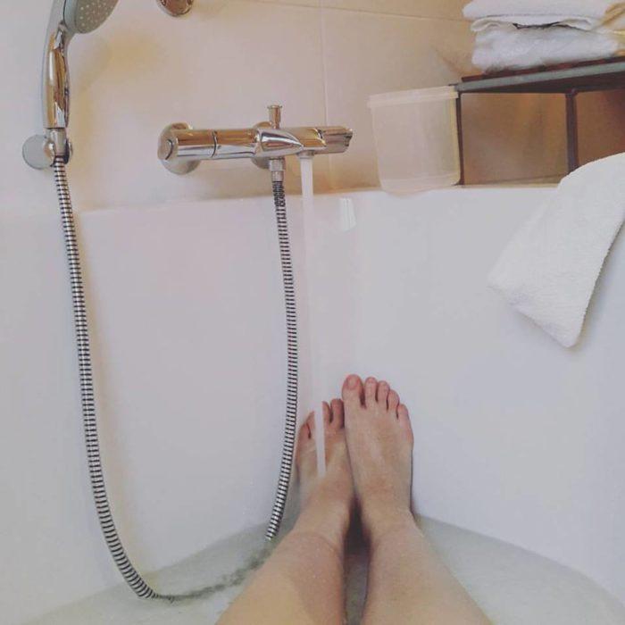 Een lang, warm bad