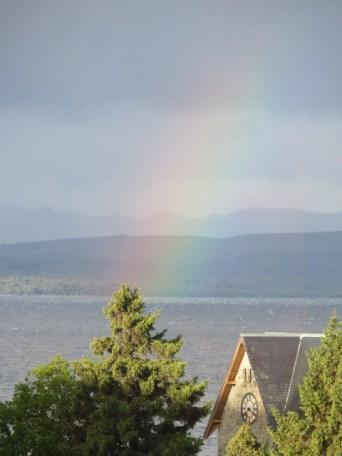 A beautiful rainbow after the rain/snow